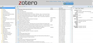 Zotero interface